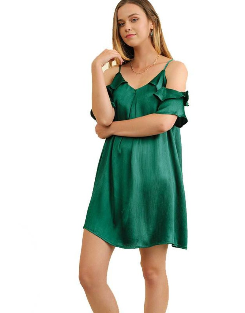 Satin Off Shoulder Dress
