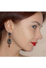 Jenette Deco Pendant Earrings