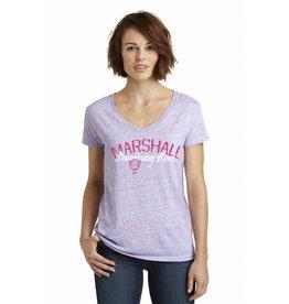 Marshall University Cotton Candy V-Neck Tee