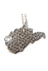 WV State Rhinestone Necklace