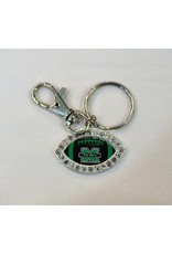 Marshall University The Herd Crystal Football Keychain