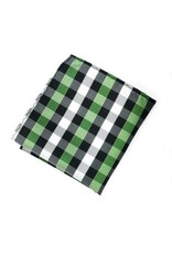 Black & Green Plaid Silk Pocket Square