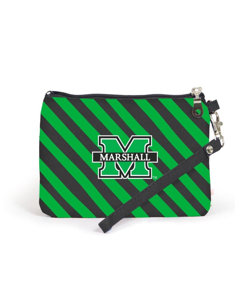 Marshall University Stadium Stripe Wristlet