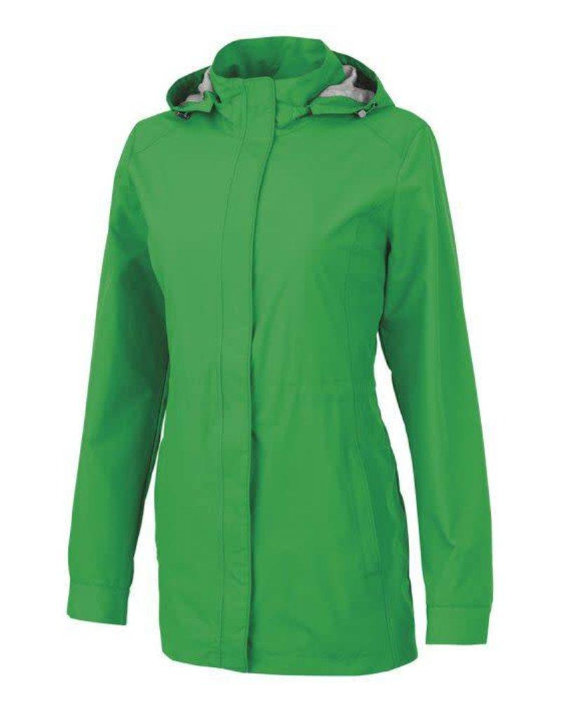 Kelly Green Ladies Rain Jacket