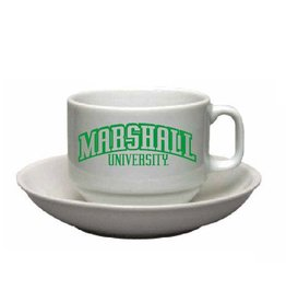 Marshall University Cappucino Cup and Saucer Set