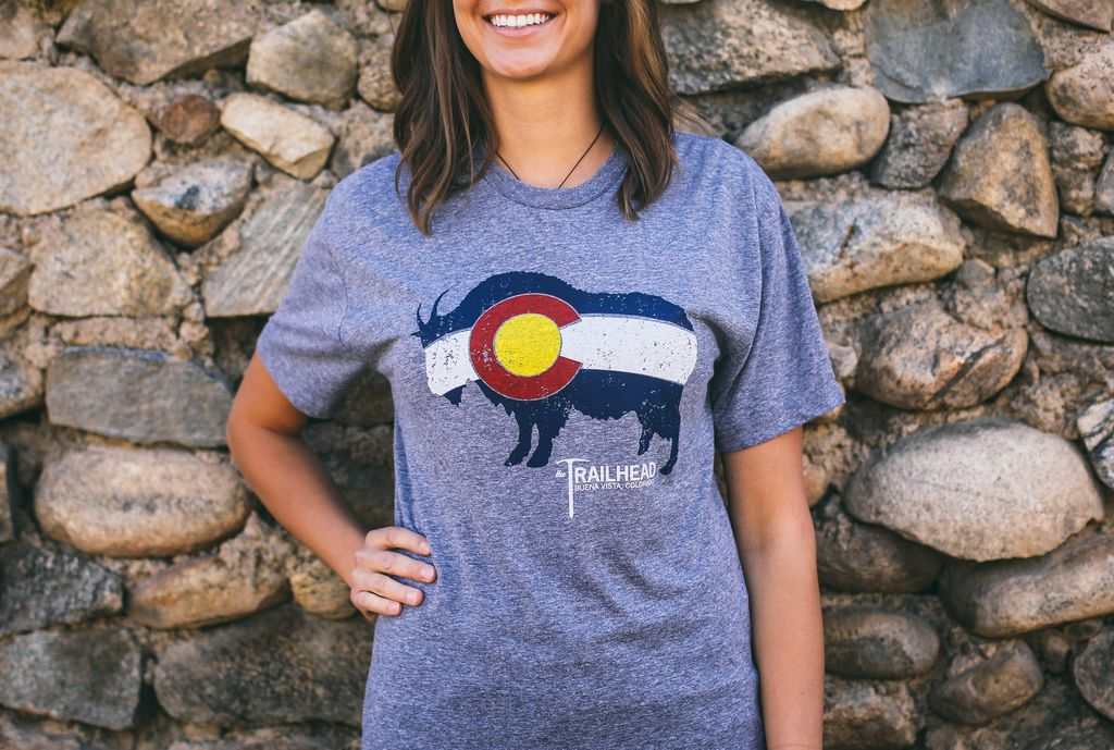 Souled Out Men's Trailhead Tee: Colorado Flag Goat