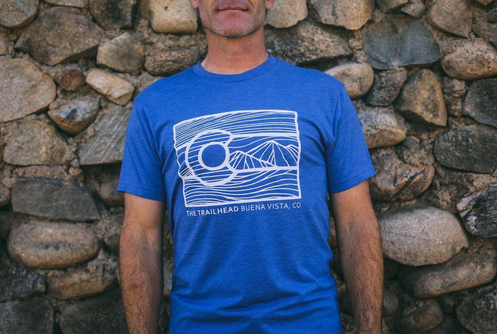 Souled Out Men's Trailhead Tee: Colorado Line Art