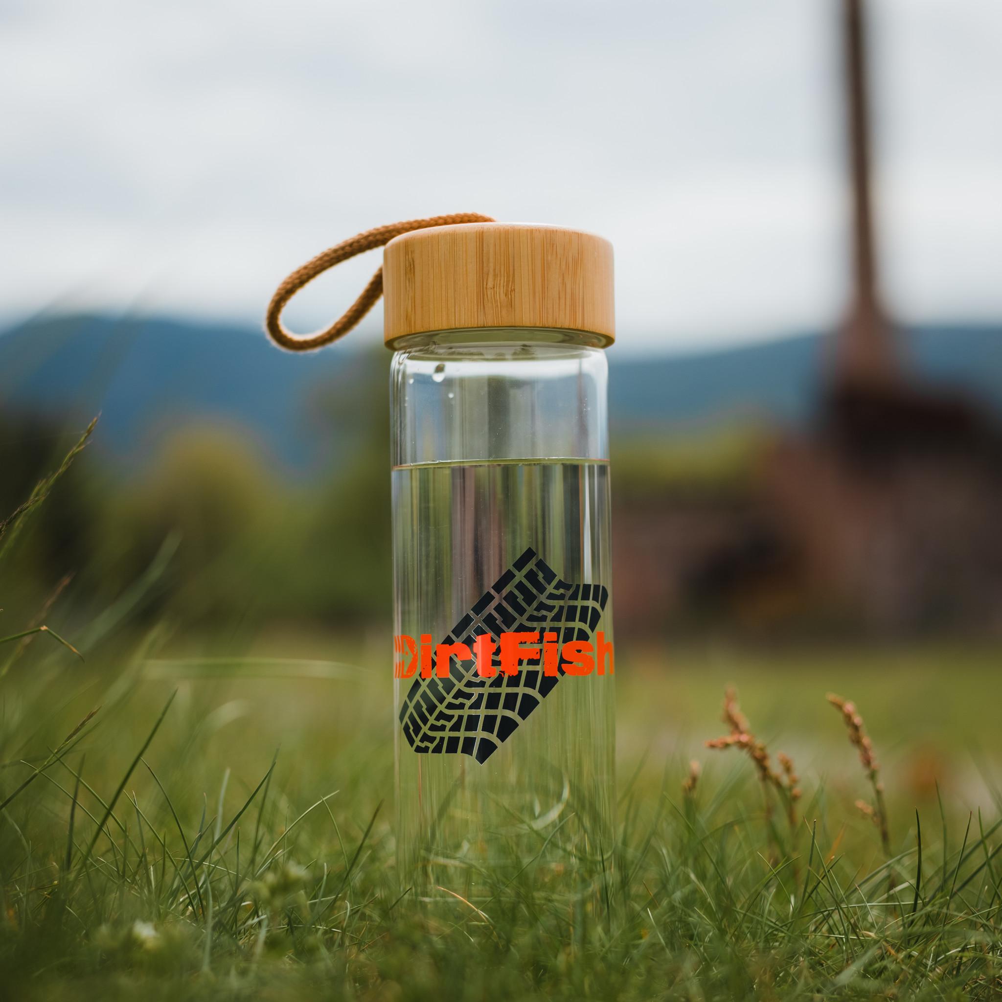 Glass Tread water bottle