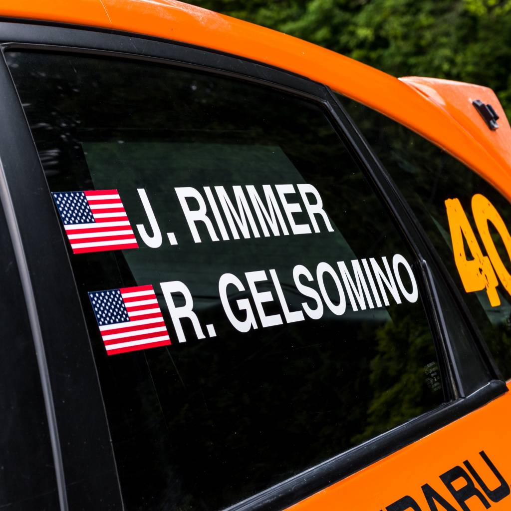 Driver's Name with Flag (2 sets)