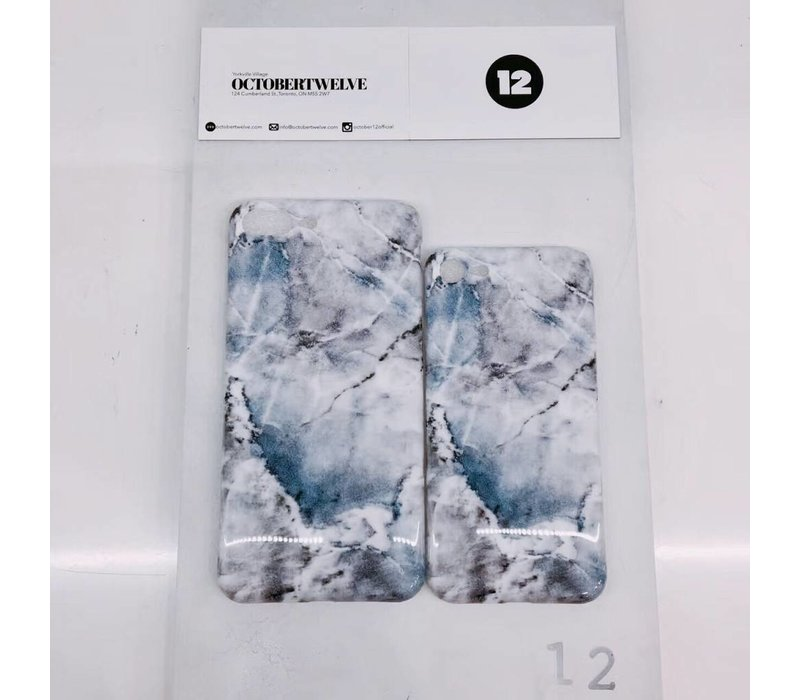 MARBLE PHONE CASE(  BLUE  AND BLACK )