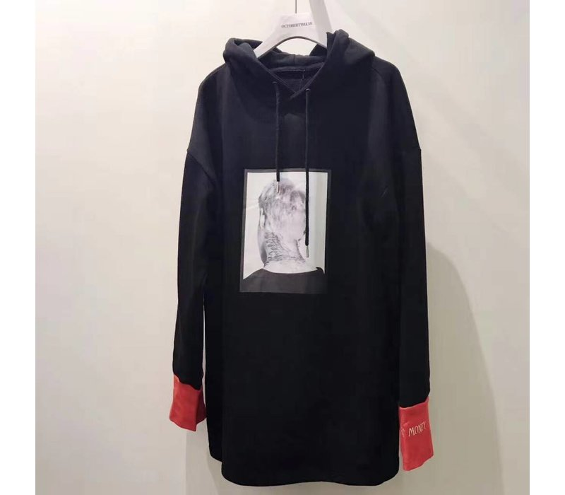 BLACK/RED HOODY