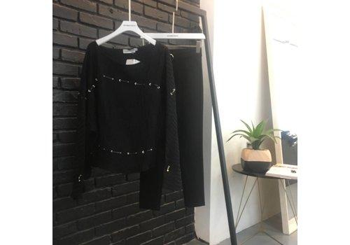 DESIGNER BLACK TOP WITH BANDAGE