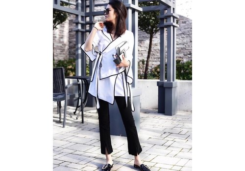 12 BLACK JACKET WITH WHITE LINE