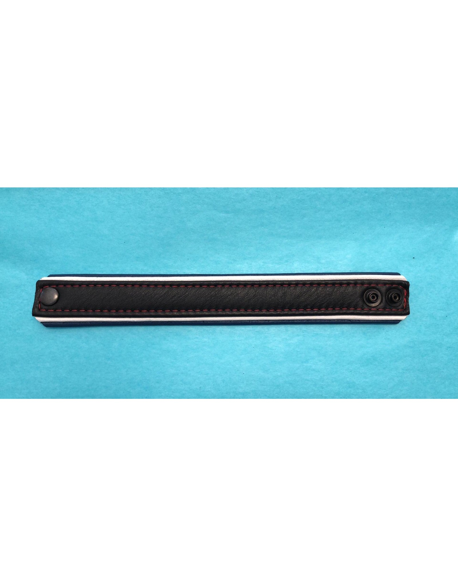 """The Leather Union Leather Pride Wrist Band 1 1/4"""""""