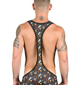 Andrew Christian Disco Unicorn Rainbow Star Singlet