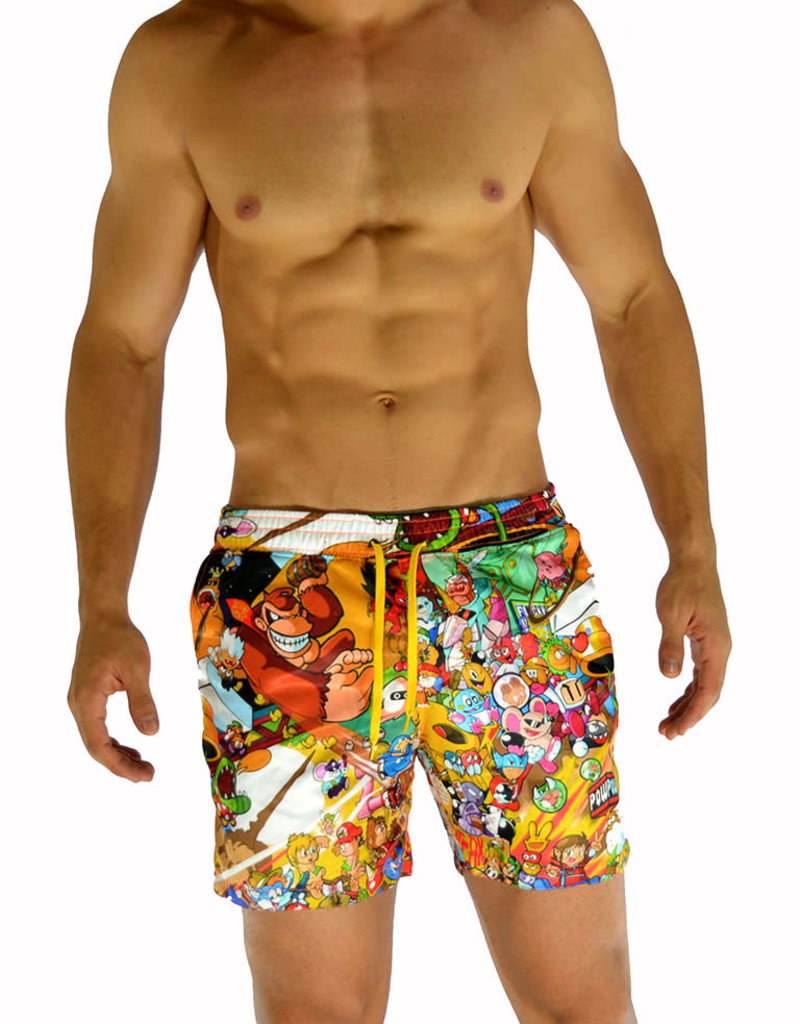 Battysta Nintendo Character Swim Shorts