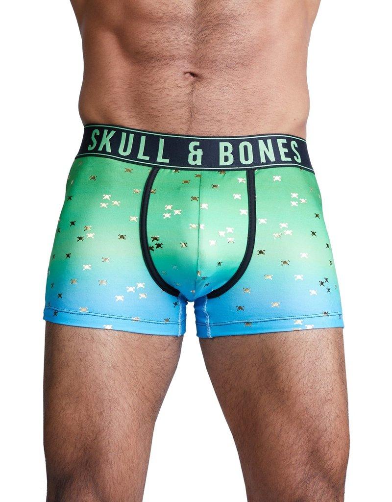 Skull & Bones Green Ombre Trunks