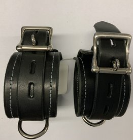 The Leather Union Black Leather Cuff Set