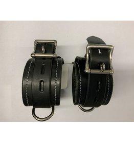 The Leather Union Black Leather Cuff Set