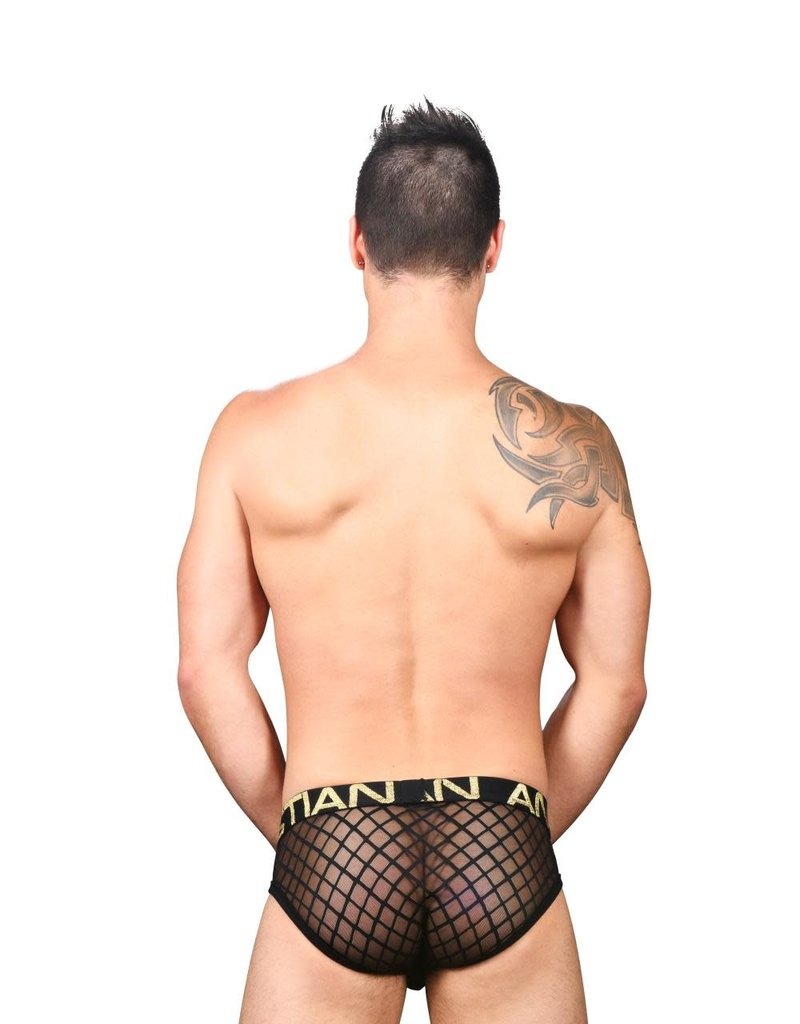 Andrew Christian Lattice Lace Sheer Brief w/ Almost Naked