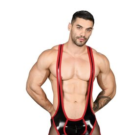 Andrew Christian Slave Sheer Access Zipper Singlet w/ Almost Naked