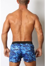 CellBlock13 Foxhole Camo Mesh Short Blue