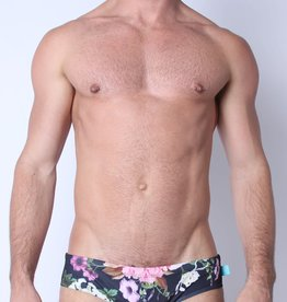 Timoteo Lakeshore Low Rise Swim Brief Floral Black