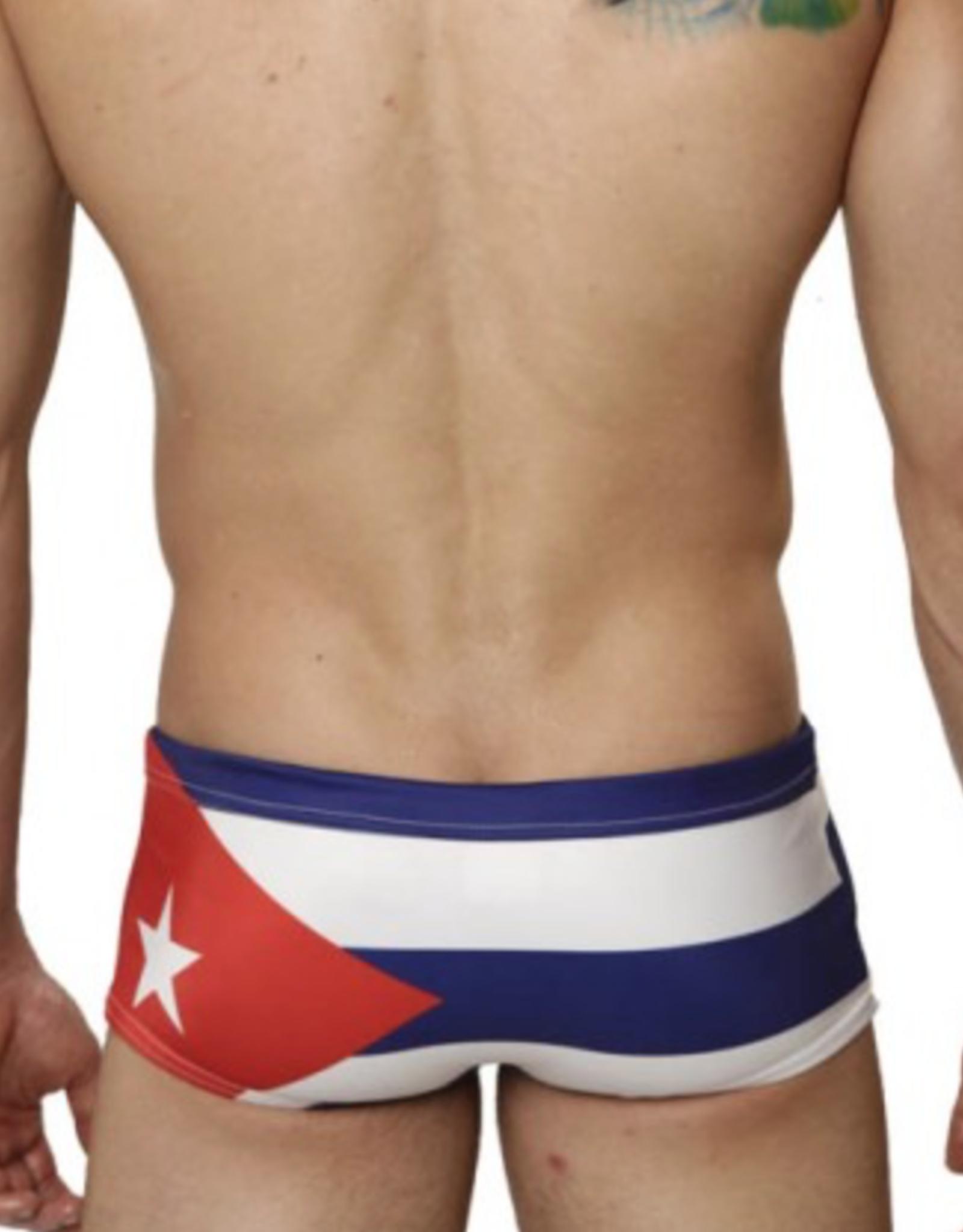 Mensuas Cuba Flag Swim Trunk