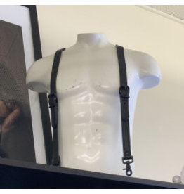 The Leather Union Leather Suspenders Small