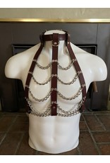 The Leather Union Woman's Brown Leather & Chains Harness