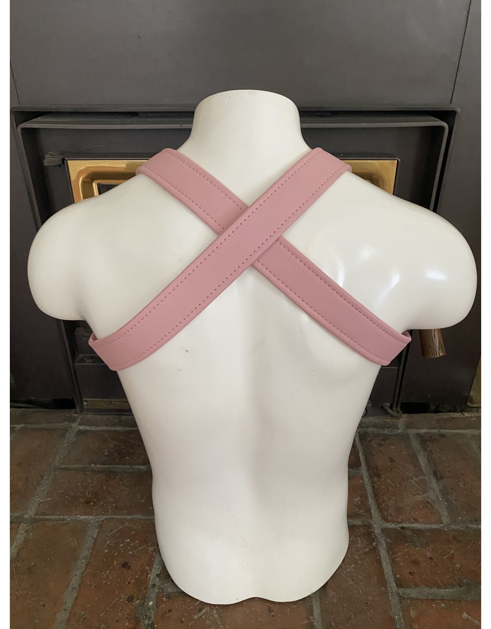 The Leather Union Soft Pink X Back hanress S/M