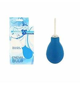 Clean Stream Anal Douche Enema Bulb - Blue