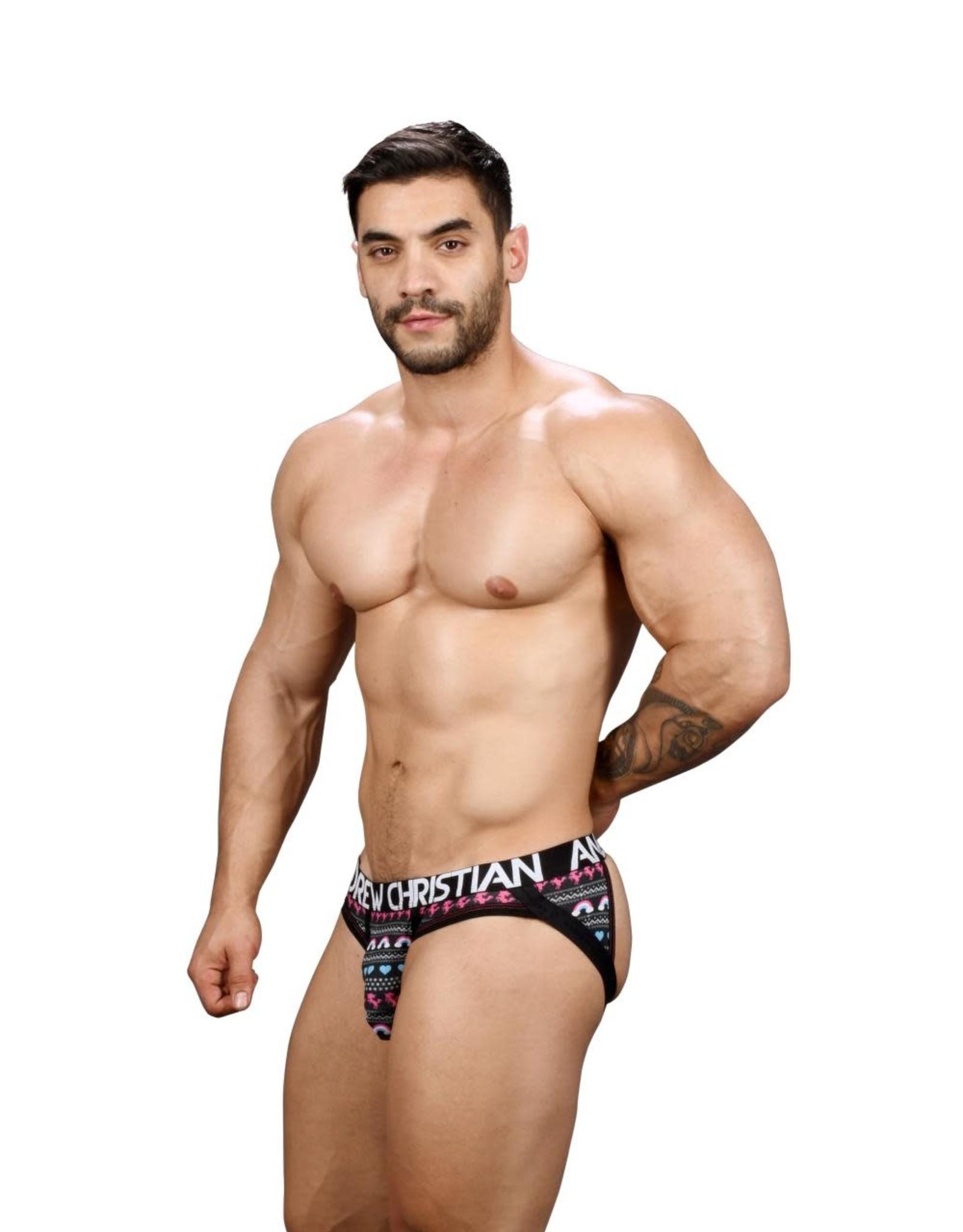 Andrew Christian Cozy unicorn Frame Jock w/Almost Naked