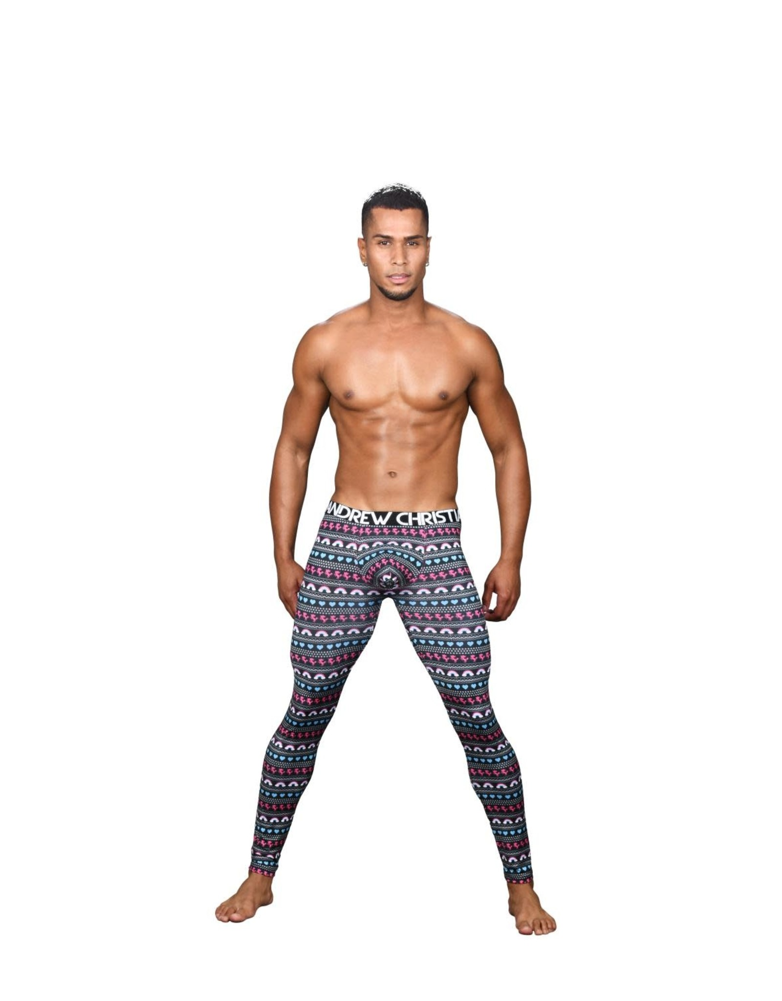Andrew Christian Cozy Unicorn Leggings W/Almost Naked