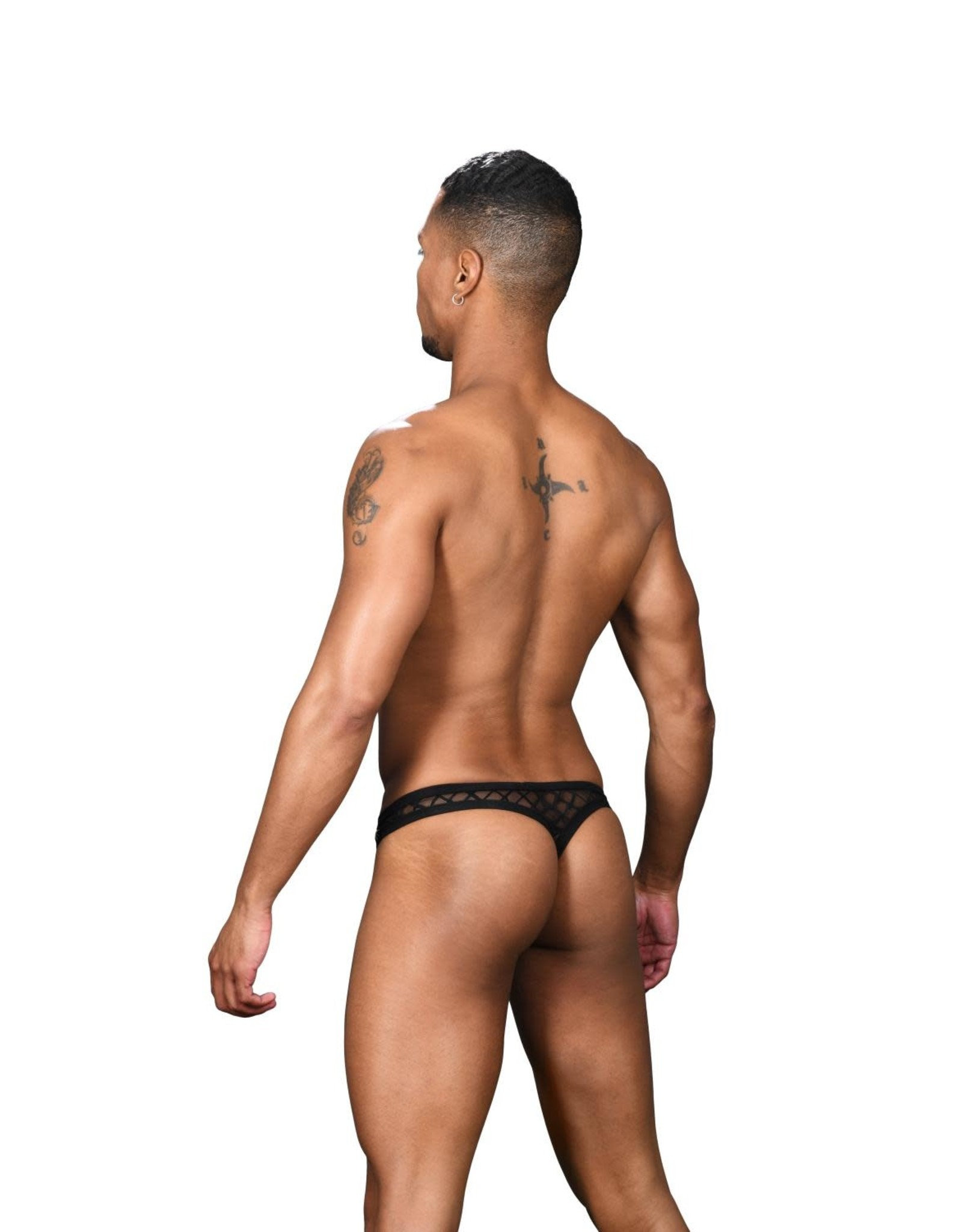 Andrew Christian Lattice Sheer Arouse Thong w/ Almost Naked