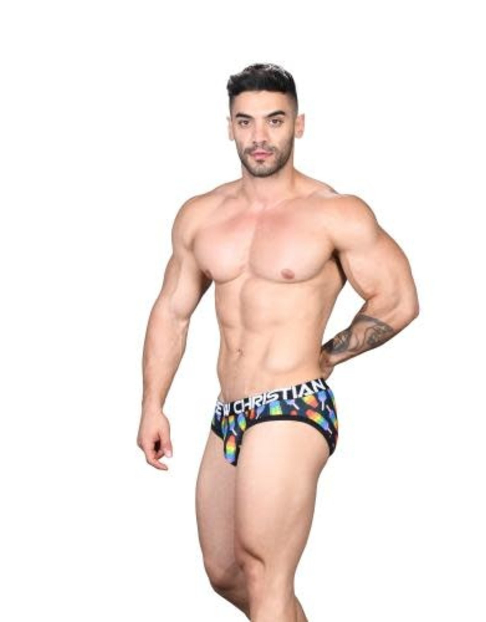Andrew Christian Popsicle Pride Brief w/ Almost Naked