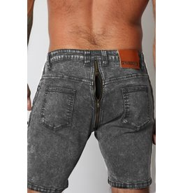 CellBlock13 Axis Denim Zipper Shorts - Black