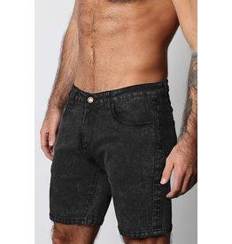 CellBlock13 Axis Denim Zipper Shorts - Black Asphalt 28