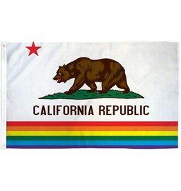 Polyester Rainbow California Flag 3' x 5'