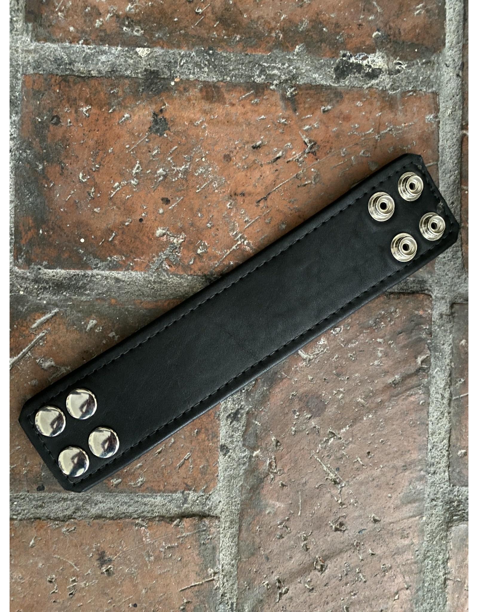 """The Leather Union Black Bracelet 9"""" x 2"""""""