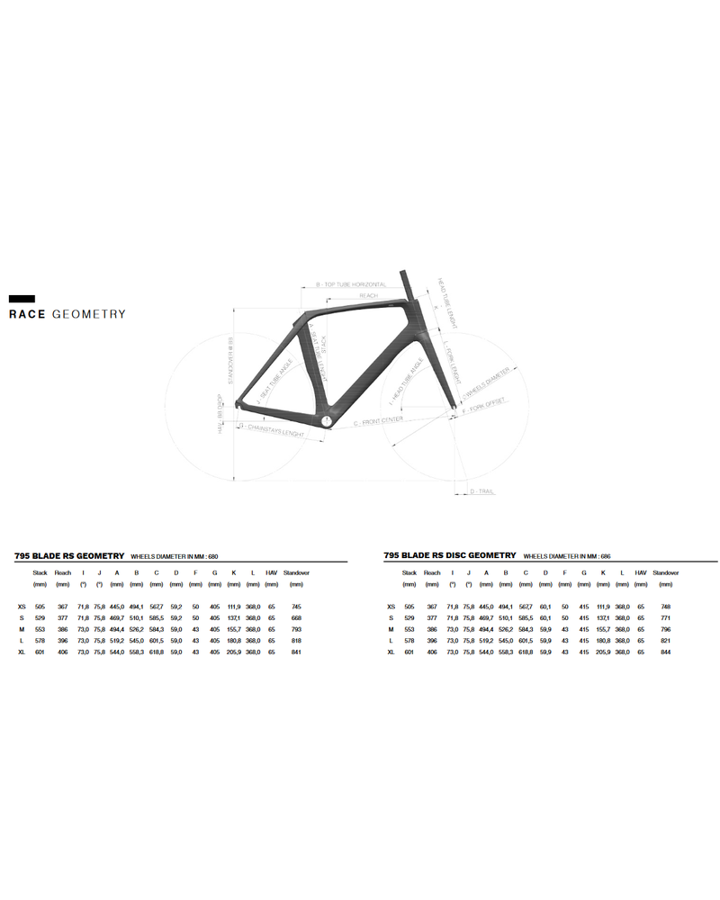 Look 795 BLADE RS DISC FRAMESET
