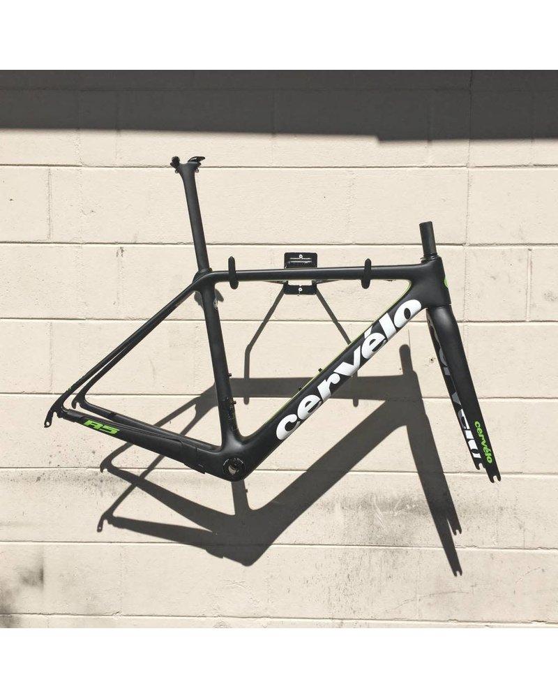 Cervelo R5 Rim Frameset White/Green - 56cm Demo
