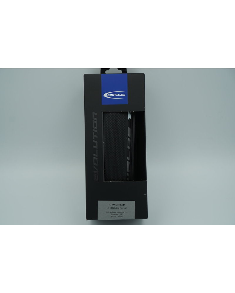 Schwalbe Schwalbe G-One Speed Tubeless Road Tire, 700 x 30 Folding Bead Black with OneStar Compound and MicroSkin Casing