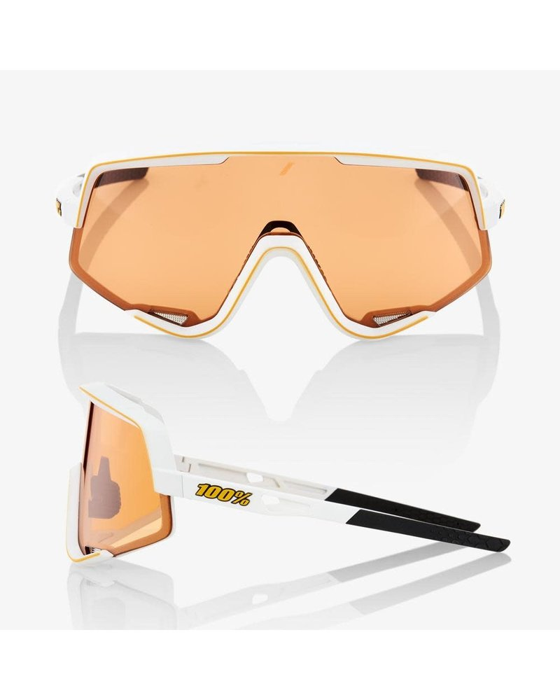 100 Percent Glendale - Soft Tact Off White - Persimmon Lens & Smoke Lens