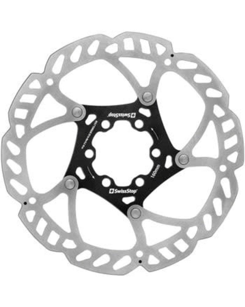 SwissStop Catalyst Disc Brake Rotor - 160mm, 6-Bolt, Silver/Black