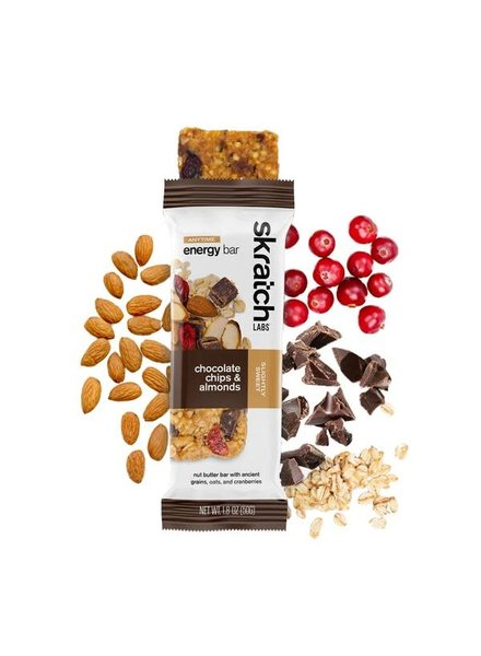 Skratch Labs Anytime Energy Bar, Almond Chocolate Chip Single