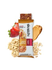 Skratch Labs Anytime Energy Bar, Peanut Butter & Strawberries, 50g Bar, 12-Pack single
