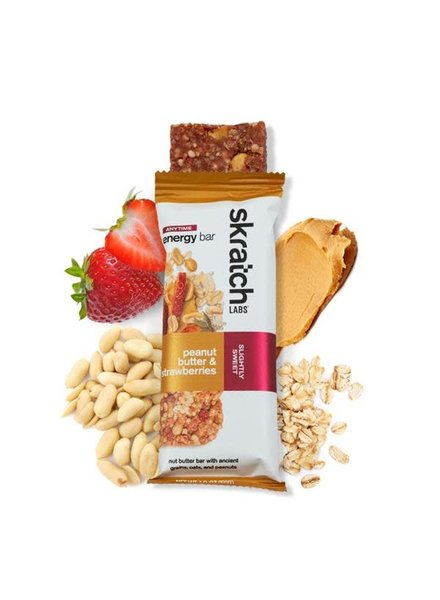 Skratch Labs Anytime Energy Bar, Peanut Butter & Strawberries Single