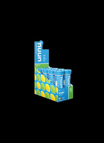 nuun Nuun Active Hydration Tablets: Lemon Lime; Box of 8 Tubes