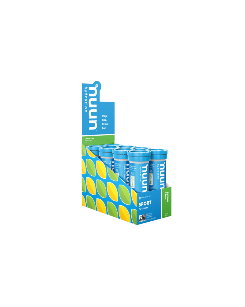 Nuun Active Hydration Tablets: Lemon Lime; Box of 8 Tubes